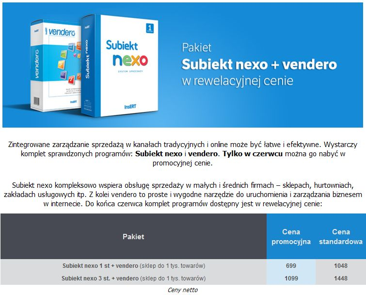 Nexo plus Vendero